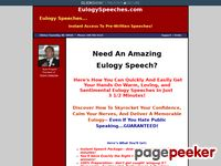 Eulogy Speeches, Funeral Speeches, and Poems