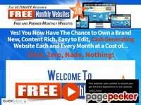 Free Monthly Websites - Free and Premier Monthly Websites