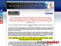 IQ-BABY, Improve the IQ Intelligence of Your Baby