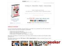 Italy From The Inside - The Definitive Survival Guide for Travelers - Italy Guide Book about Italian Culture