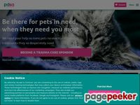 Website for The People's Dispensary For Sick Animals