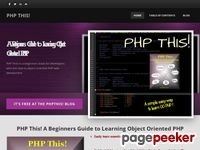PHP THIS! - A Beginners Guide to Learning Object Oriented PHP