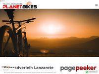 Planet Bikes Lanzarote-Radvermietung-Radtouren-Wandern