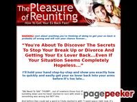 Pleasure Of Reuniting – How To Get Your Ex Back – Relationship Advice – Break Up Advice