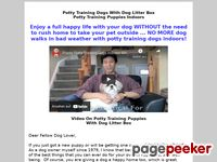 Potty Training Dogs With Dog Litter Box Potty Training Puppies