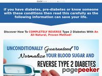 """How To REVERSE DIABETES NOW!"" – Your Diabetes Cure"