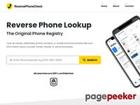 Reverse Phone Lookup – Run Reverse Number Lookup – ReversePhoneCheck