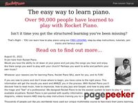 Learn how to play piano with Rocketpiano piano lessons
