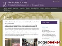 The Roman Society > Welcome to The Roman Society