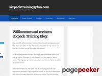 Sixpack Trainingstipps