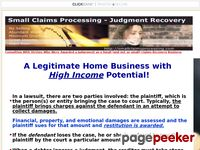 Judgement Recovery Business Course – Small Claims Processing