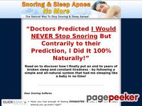 Snoring & Sleep Apnea No More - The Natural Way To Stop Snoring And Sleep Apnea