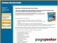 Starting a Day Care Center - Starter Kit