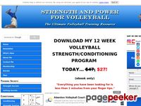 Volleyball Training Programs for Strength and Power