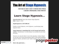 Learn Stage Hypnosis - The Art of Stage Hypnosis