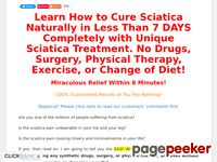 Sciatica Treatment: Cure Sciatica in Just 8 Mins - Treat Sciatica Now