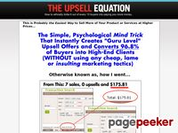 The Upsell Equation System