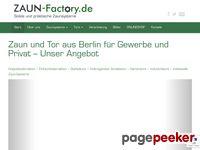 ZAUN-Factory - solide und praktische Zaunsysteme