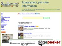 Dog, cat, bird, fish, ferret and small pet care information. Articles, educational content, free classified ad, photos, fun animal videos and popular pet name at Ahappypets.com