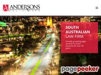 Andersons Solicitors Website