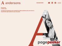 Andersons Solicitors Website