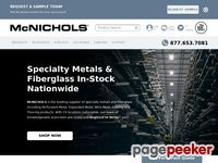 Mcnichols.com -     Perforated Metal, Wire Mesh, Grating, Expanded Metal and Fiberglass Products.
