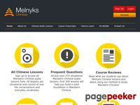 Melnyks.com - Learn Chinese Online – Mandarin Chinese Audio Lessons