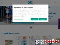 Ob-online.de - O.b.® Tampons & Infos für Mädchen ♀ und Frauen ♀ | ob