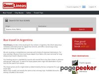 Omnilineas.com - Bus Travel Argentina - Buses from Buenos Aires