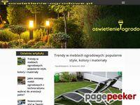 Stojąca lampa ogrodowa