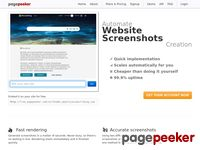Website thumbnails and website screenshots - PagePeeker