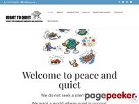 Quiet.org - Right to Quiet Society - Home Page