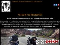 Ridersinfo.net - Biker Information you want! Helmet Laws, Sturgis Info, Road Stories