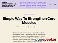 Simplestrengthening.com - Simple Strengthening | Get Straight Get Strong | Get Rid Of Pain