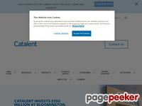 screenshot of www.catalent.com