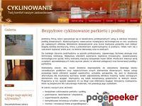 Szlifkom - Cyklinowanie Cyklinowanie bezpyłowe