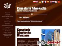 Kancelaria adwokacka Warszawa, via toll odzyskiwanie pieniędzy