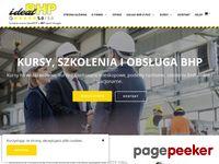 Tutaj już jest lub wkrótce pojawi sie aktualny zrzut strony Kompleksowe usługi BHP, szkolenia BHP, kurs na w...