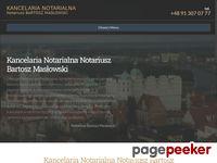 Kancelaria Notarialna Bartosz Masłowski Szczecin