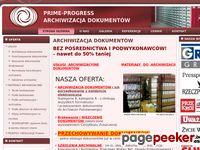 PRIME-PROGRESS - archiwizacja dokumentów