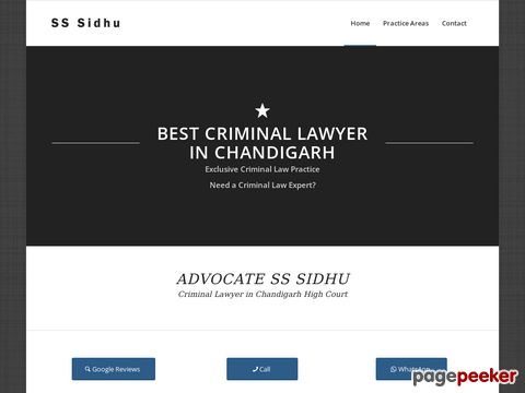 Advocate SS Sidhu Criminal Lawyer in Chandigarh High Court