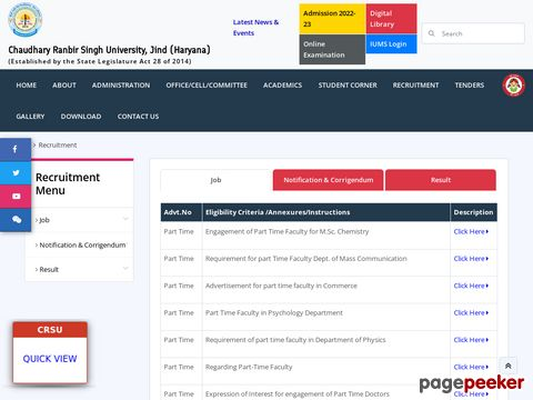 Recruitment of Non-Teaching Vacancy in CRSU Jind 2020