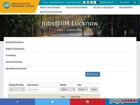 Administrative Job vacancy Recruitment at IIM Lucknow