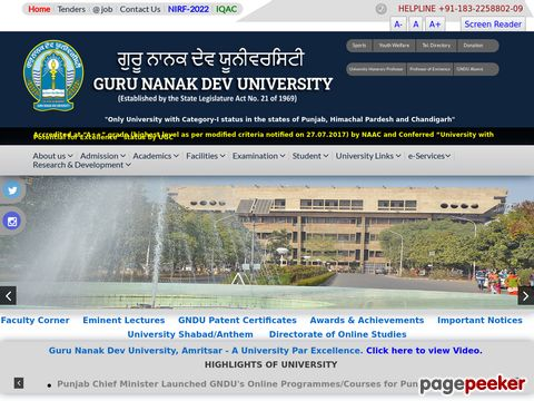 Faculty and Non-Teaching Vacancyin GNDU Amritsar