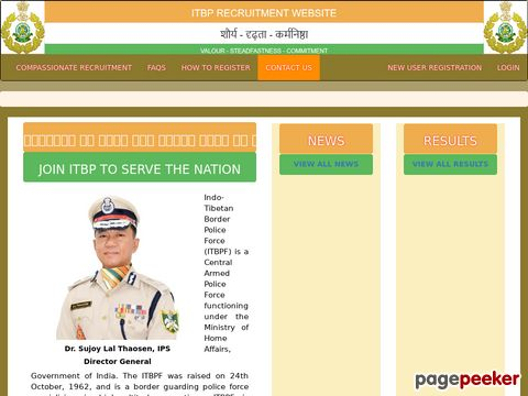 Constable (Animal Transport) Vacancy in Indo-Tibetan Border Police Force (ITBP)