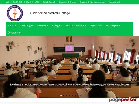 WALK IN INTERVIEW in Sri Sidhartha Institute of Medical Science & Research Center