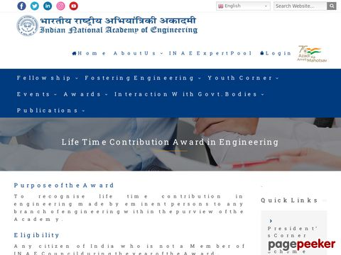 Life Time Contribution Award in Engineering 2021