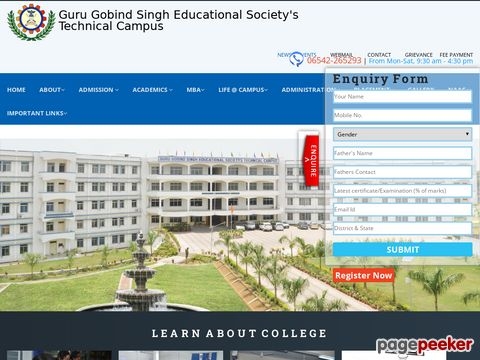 GURU GOBIND SINGH EDUCATIONAL SOCIETY TECHNICAL CAMPUS