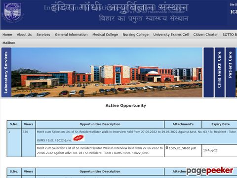 Recruitment for Non-Faculty Vacancy in IGIMS Patna