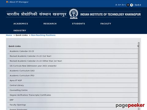 Institute invites Online Applications from Indian Nationals for the various posts